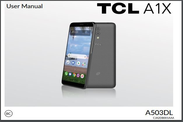 Alcatel TCL A1X A503DL User Manual / Guide