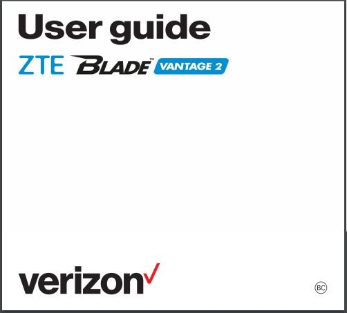 ZTE Blade Vantage 2 User manual / Guide