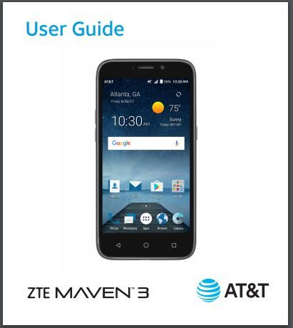 ATT ZTE Maven 3 Z835 User manual / Guide