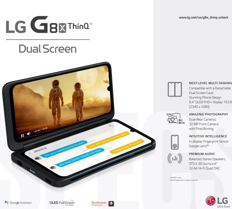 Unlocked LG G8X ThinQ Dual Screen User Manual / Guide