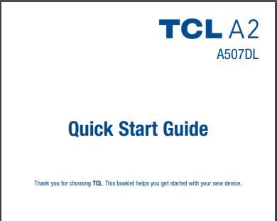 Alcatel TCL A2 A507DL User Manual / Guide